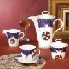 cheap porcelain 15pcs coffee tea set