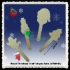 "DIY Christmas Wood Craft Sticks Set 5-1/2"" for kids"