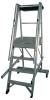 Aluminum Step Castellar Moveable Ladder