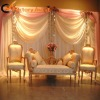 White organza backdrop decoration fabric