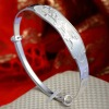 Summer new ladies silver bracelet designs with plum blossom pattern
