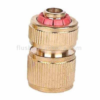 Brass Quick Hose Connector with water stopper 1/2""