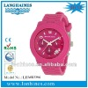 fashion sumer top brand waterproof japan chrono silicone strap MK watch LHMK5296