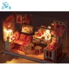 creative kids toys - wooden assembled light princess room building blocks