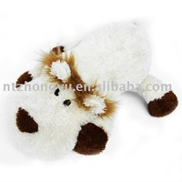 squeaky white plush lion,pet toy for dog