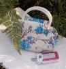 cloisonne PU banquet handbag