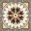 Flower pattern crystal decration polished tile