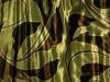 Peeling and printed silk velvet