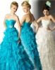 KW9078 elegant empire waist light blue/white evening dresses