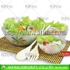 2012 hot sale forsted glass salad bowl set