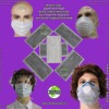 non-woven face mask (dust mask, face mask)