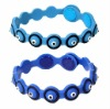 Fashion rubber evil eye bracelet