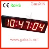alibaba express 4inch red wall mounted electronic clock