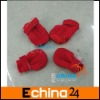 4pcs Red Pet Dog Shoes