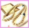 Pearl necklaces with gold beads SWN127