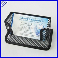desktop black wire metal mesh business card holder,name card holder