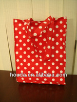 20*20/60*60 eco-friendly PVC cotton printed shopping bag