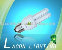 2U-9W tri color and high lumen energy saving lamp