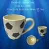 Ceramic football design mug