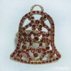 beaded bell napkin ring red (P21018k1)