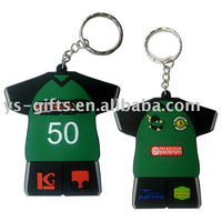 T-shirt shape rubber key chains