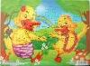 Cartoon animals children puzzles