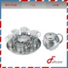 stainless steel tea kettle set with glass