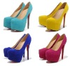 fashion suede red bottom women high heel shoes