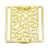 Gold alloy garment buckle