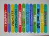 fashionable custome logo silicone slap bracelet
