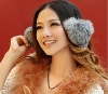 fashion real rabbit fur soft earmuffs ear muffs christmas gift large adjustable