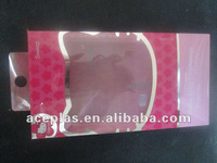 2012 hot sale clear plastic packaging for earphone