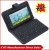 "7"" tablet pc Stand keyboard,leather case with keyboard fit for 7inch tablet pc"