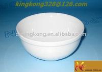 White cheap ceramic rice bowl for serving