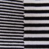 zebra 2X2 withe and black modal stripe knit fabric