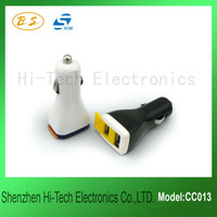 2012 Latest foldable dual usb car charger for iPhone iPad