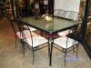 2012 New dining table and chair of Wrought iron