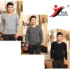 100% pure Cashmere jumper/ simple man's flat knitted sweater