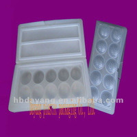 Plastic square tray for food packaging
