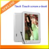 "7"" Ebook Touchscreen Ebook Reader 4GB 800*480 Mp4 player digital photo frame"