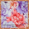 cotton printed fabric with pink and blue flower pattern for home textile