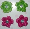 Colorful Plastic Flower with Clip Peony Flowers for Shoes with Crystal