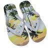 silk printing PE home flip flop sandal