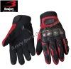 Full finger red motorcycle gloves