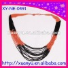 fashion multi strand seed beads necklace