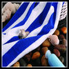 Blue White Stripe Pool Towel