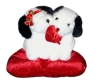 Valentine's Dog On Plush Pillow