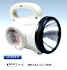 plastic emergency flashlight with clock & wound dressing