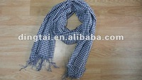 100%acrylic yarn-dyed woven check stock scarf