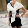 BG20702 Genuine Knitted Mink Fur Shawl OEM Wholesale/Retail